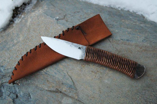 petit couteau droit brut de forge