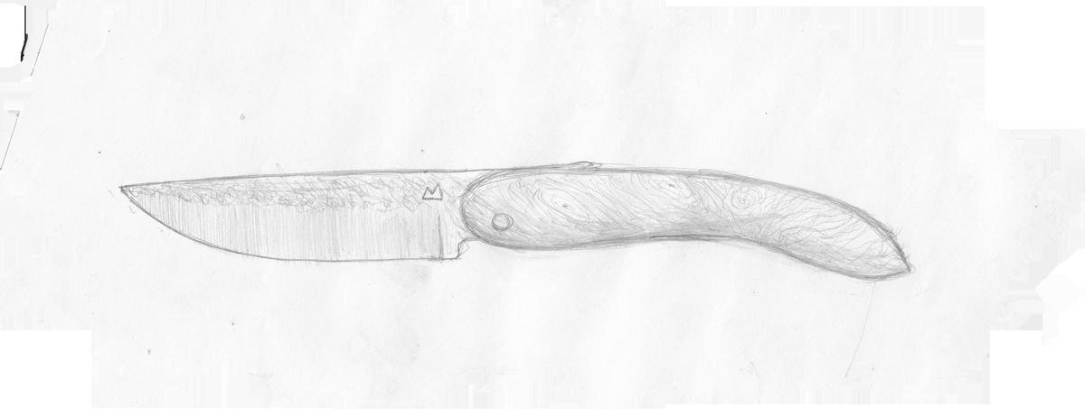 Esquisse du couteau chevalier